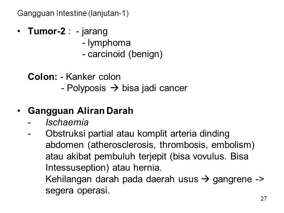 Gangguan Intestine (lanjutan-1)