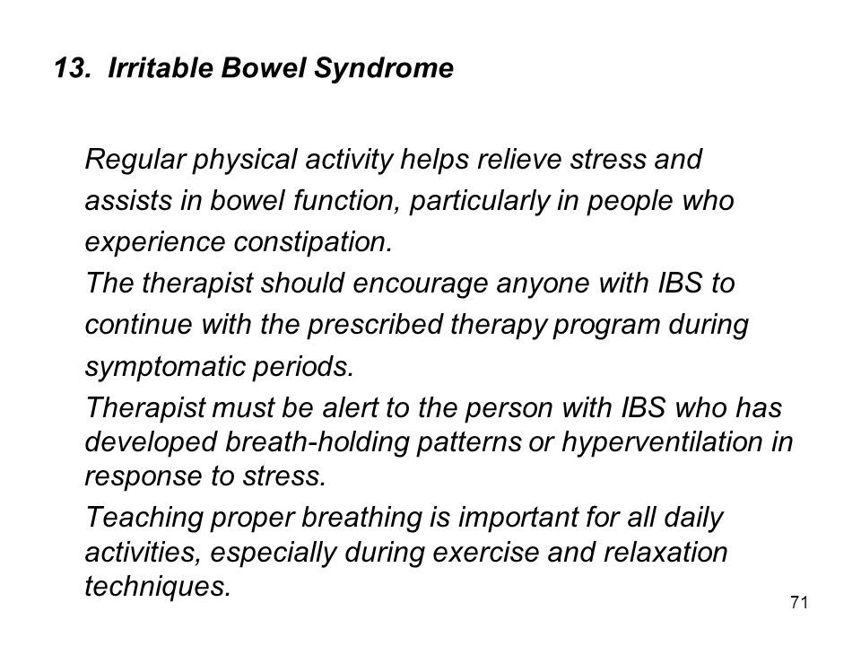 13. Irritable Bowel Syndrome