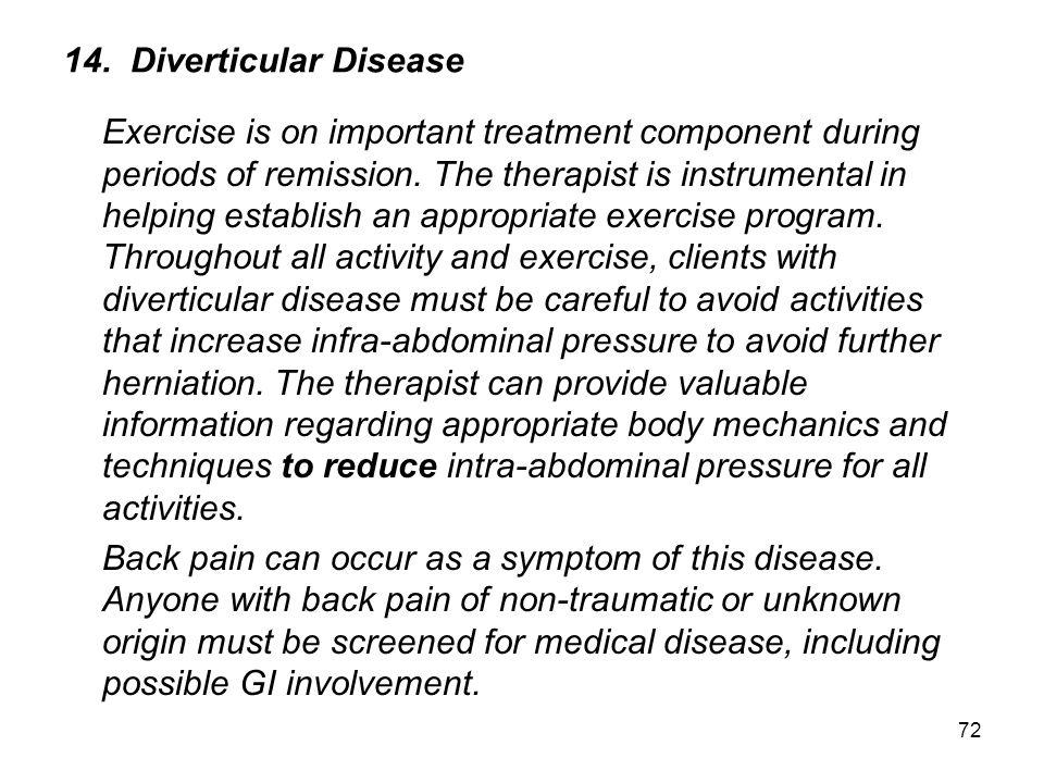 14. Diverticular Disease