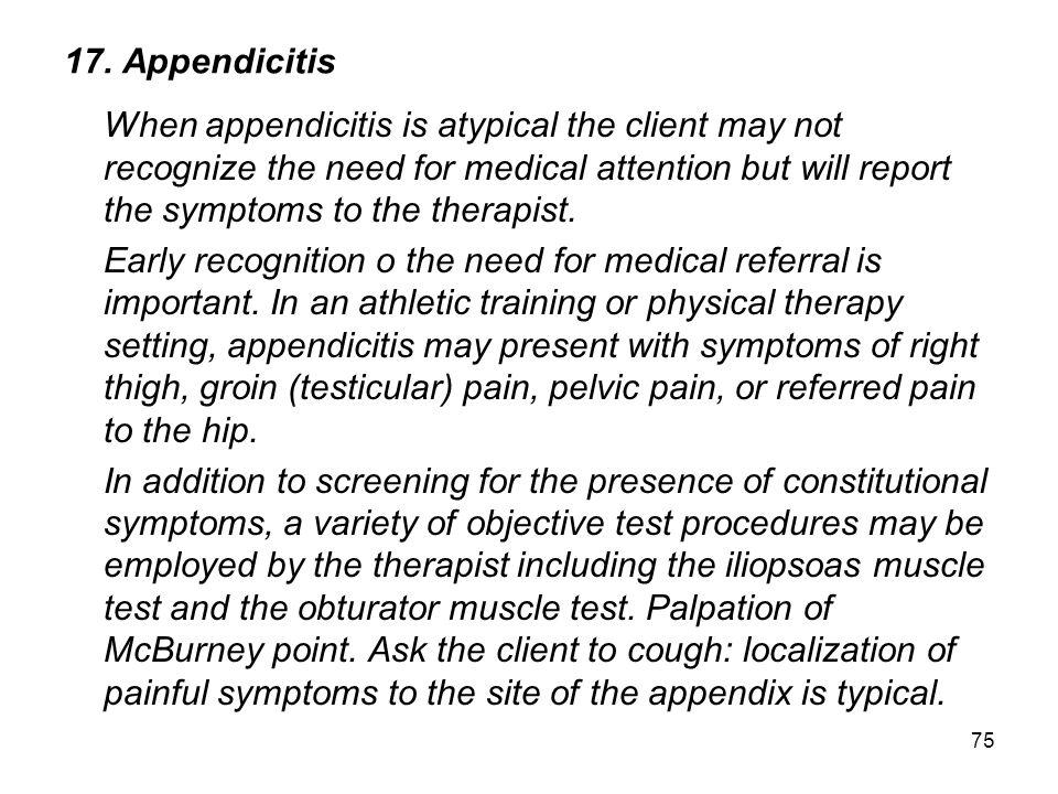 17. Appendicitis
