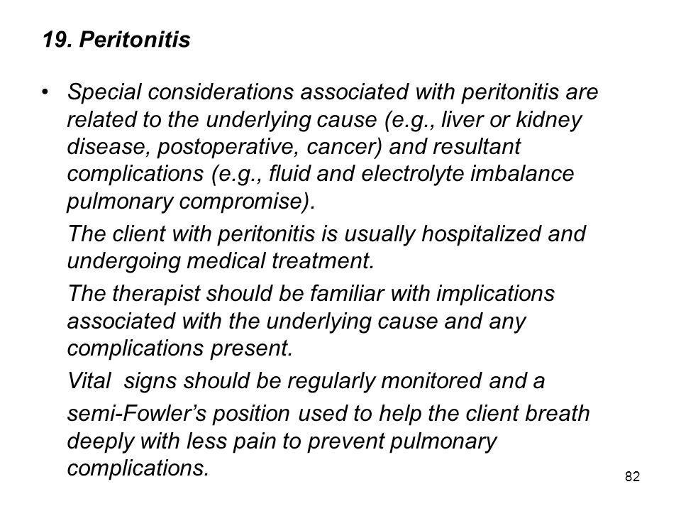 19. Peritonitis