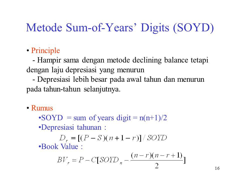 Metode Sum-of-Years' Digits (SOYD)