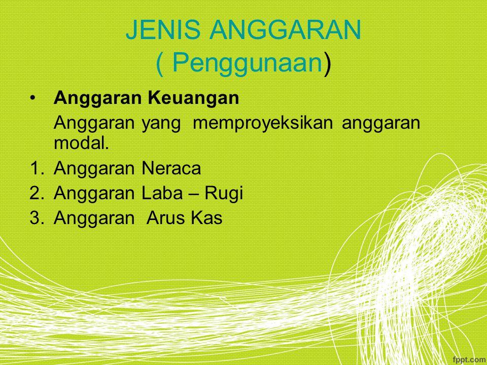 JENIS ANGGARAN ( Penggunaan)