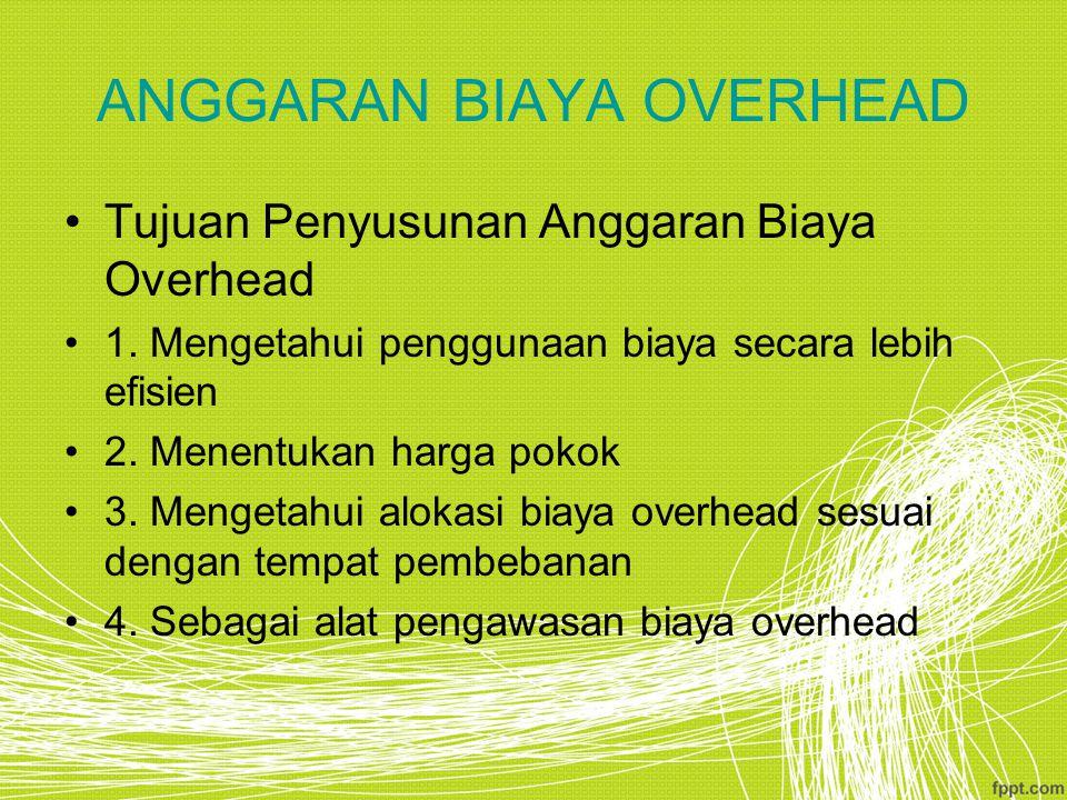 ANGGARAN BIAYA OVERHEAD