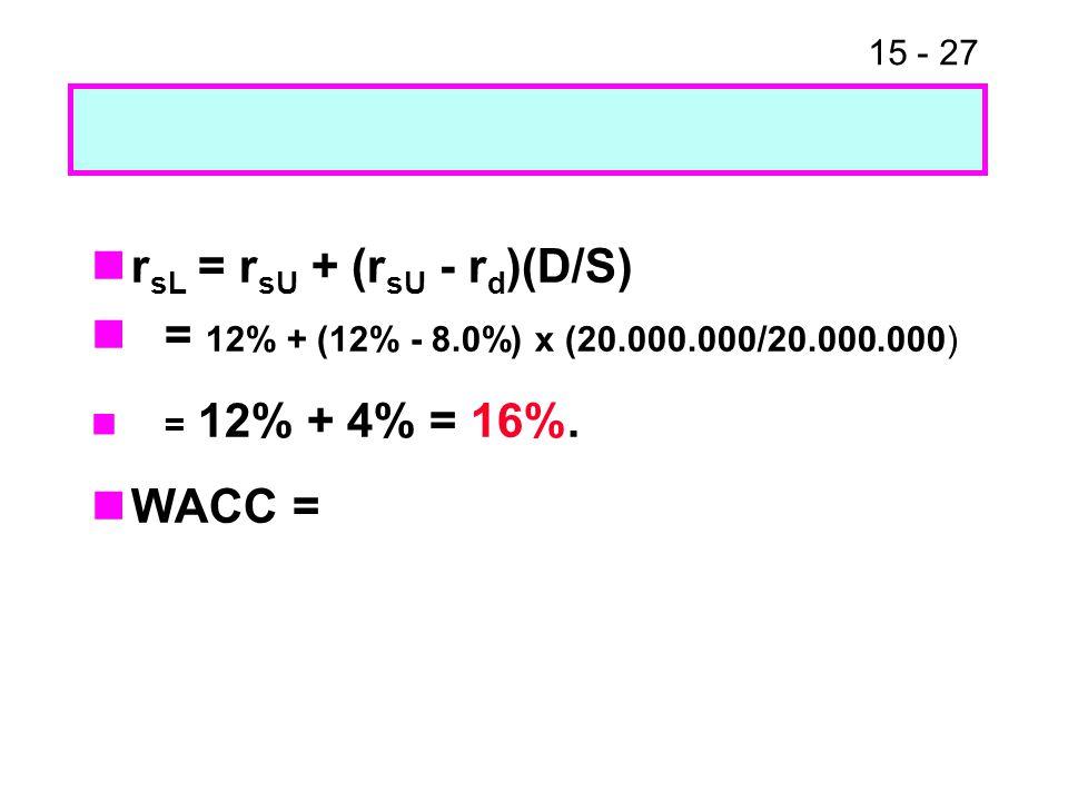 rsL = rsU + (rsU - rd)(D/S)