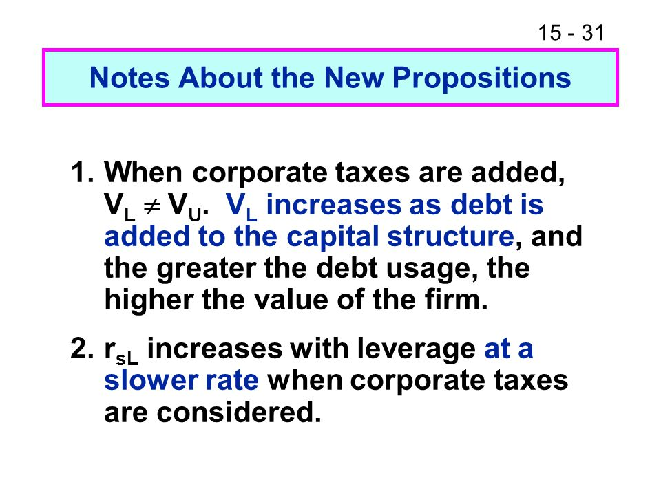 Notes About the New Propositions