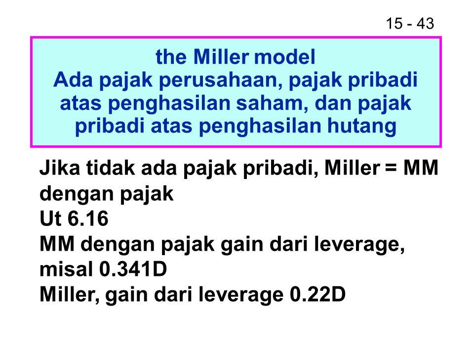 the Miller model Ada pajak perusahaan, pajak pribadi atas penghasilan saham, dan pajak pribadi atas penghasilan hutang.