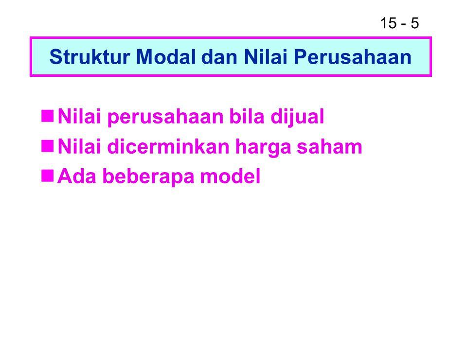 Struktur Modal dan Nilai Perusahaan