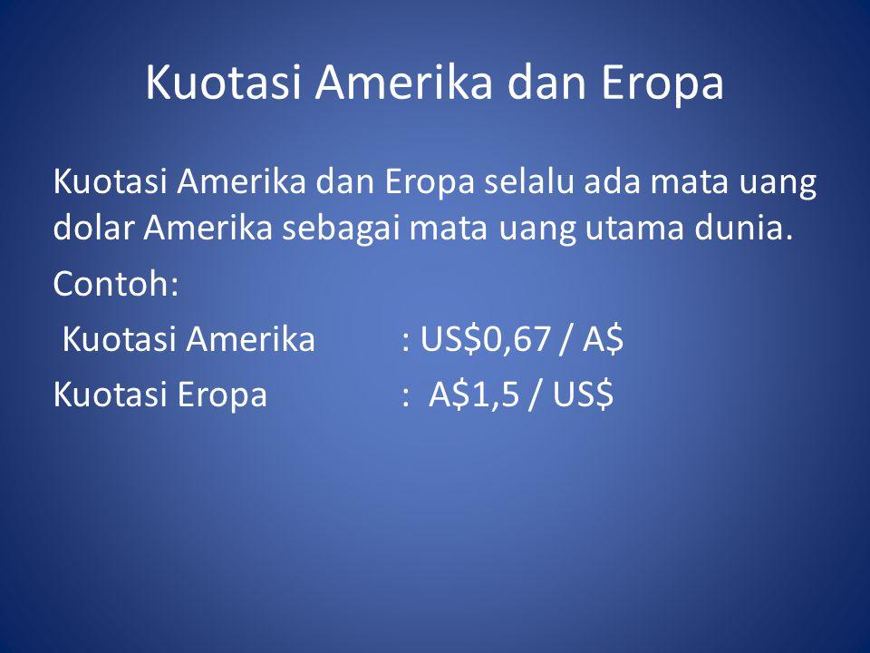 Kuotasi Amerika dan Eropa