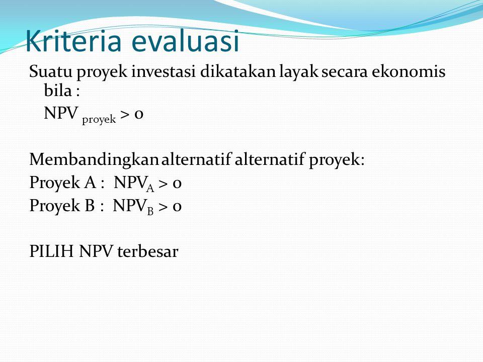 Kriteria evaluasi