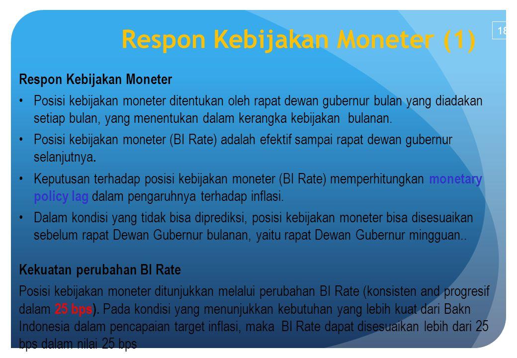 Respon Kebijakan Moneter (1)