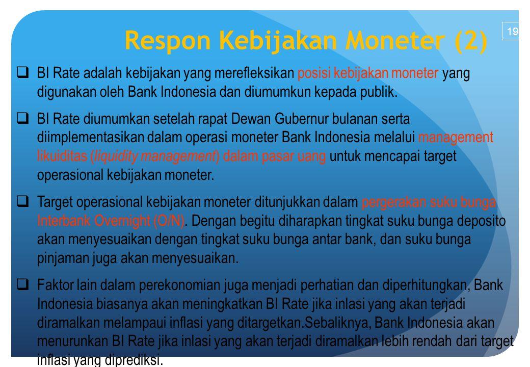 Respon Kebijakan Moneter (2)