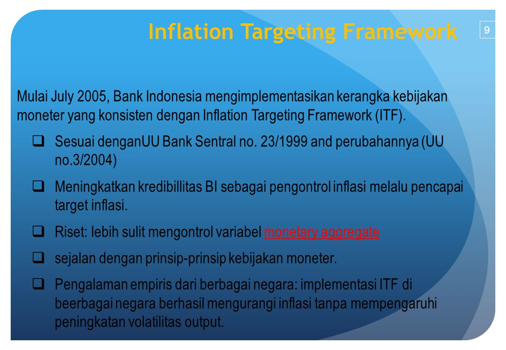Inflation Targeting Framework