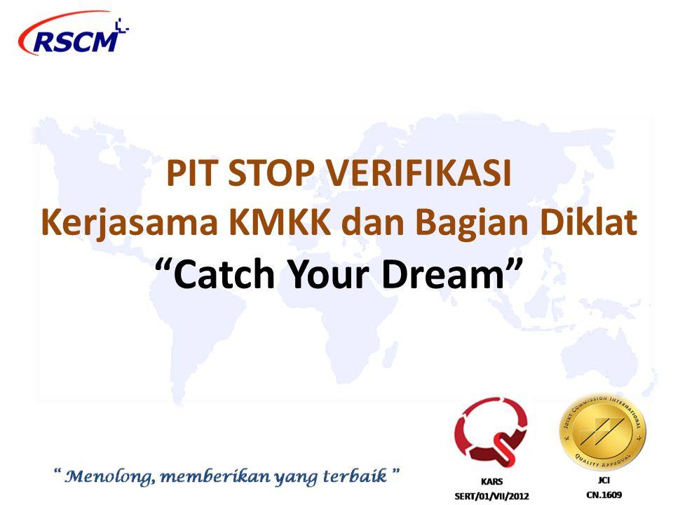 PIT STOP VERIFIKASI Kerjasama KMKK dan Bagian Diklat Catch Your Dream