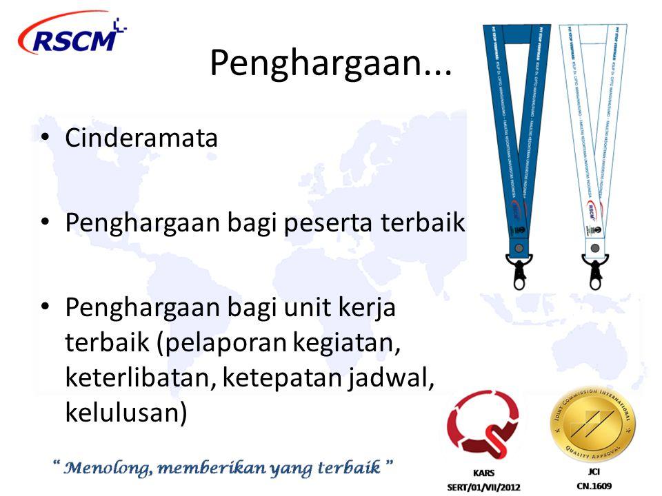 Penghargaan... Cinderamata Penghargaan bagi peserta terbaik
