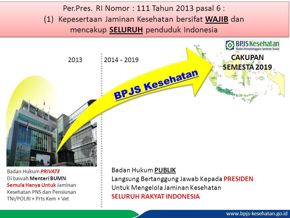 BPJS Kesehatan Per.Pres. RI Nomor : 111 Tahun 2013 pasal 6 :