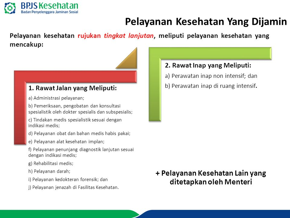 + Pelayanan Kesehatan Lain yang ditetapkan oleh Menteri