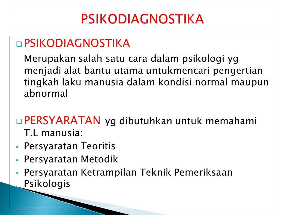 PSIKODIAGNOSTIKA PSIKODIAGNOSTIKA