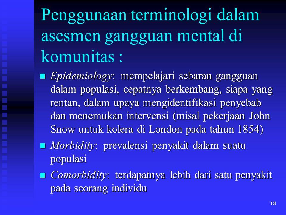 Penggunaan terminologi dalam asesmen gangguan mental di komunitas :