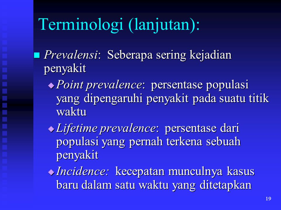 Terminologi (lanjutan):
