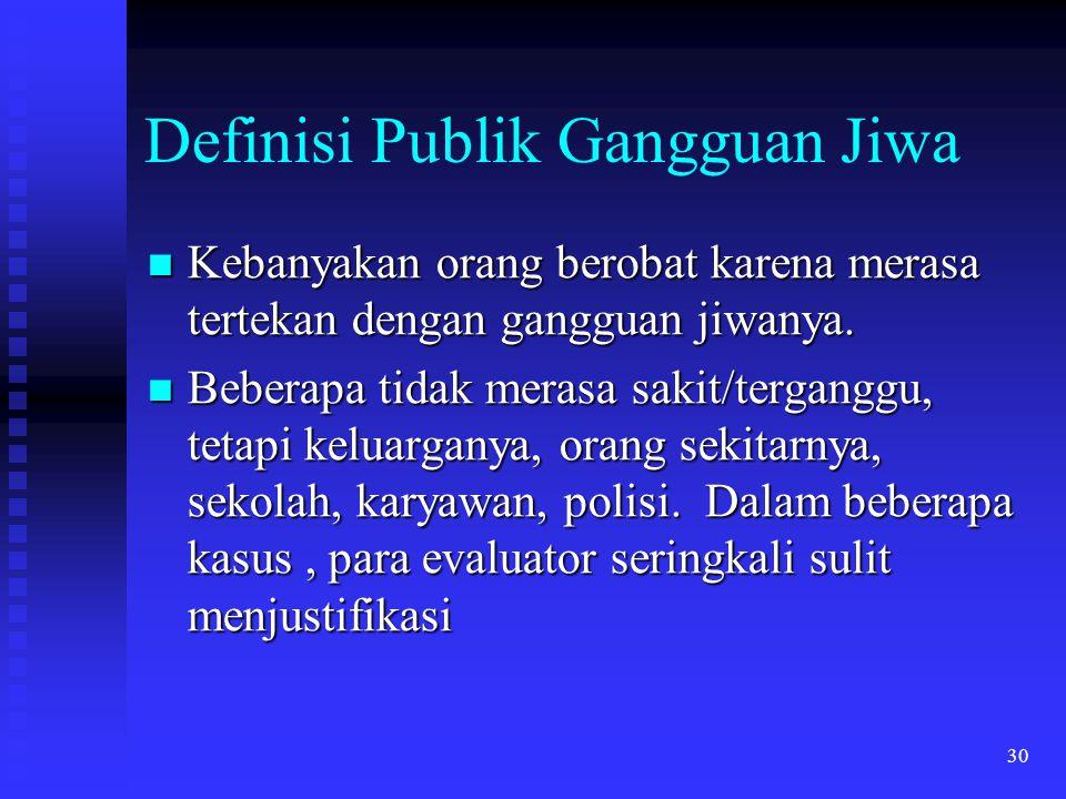 Definisi Publik Gangguan Jiwa