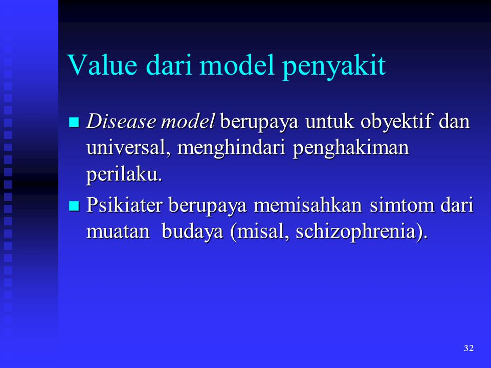 Value dari model penyakit