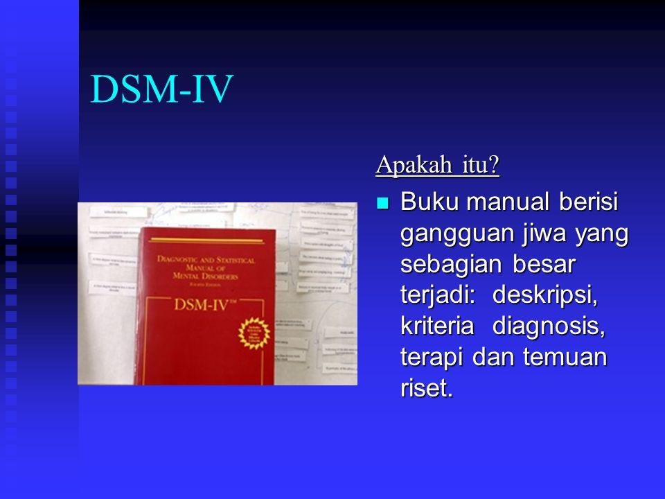 DSM-IV Apakah itu.