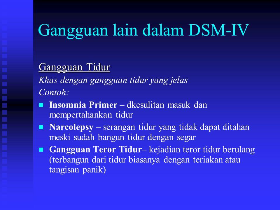 Gangguan lain dalam DSM-IV