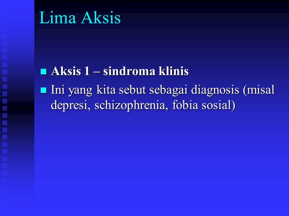 Lima Aksis Aksis 1 – sindroma klinis