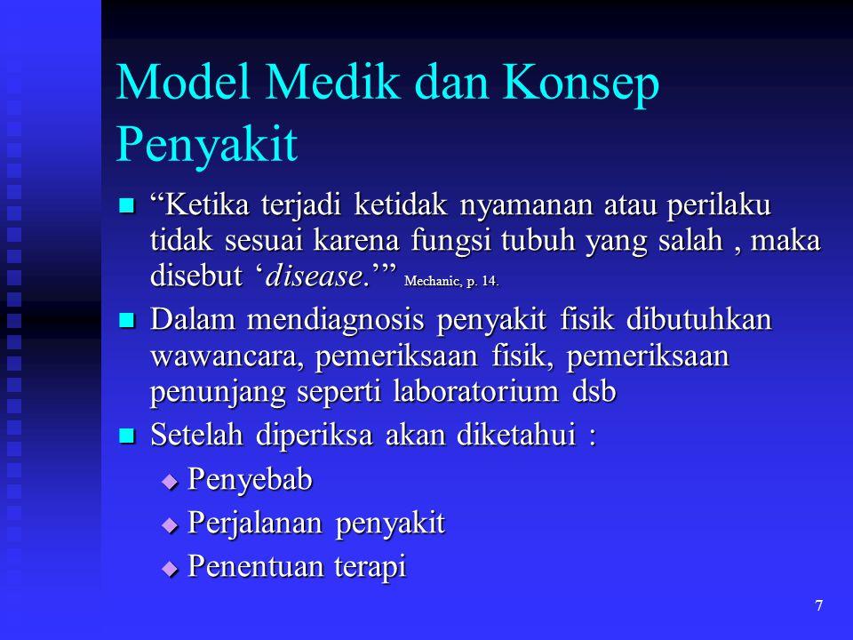Model Medik dan Konsep Penyakit