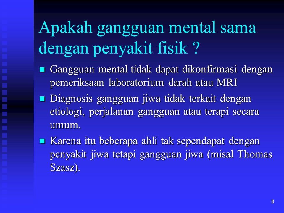 Apakah gangguan mental sama dengan penyakit fisik