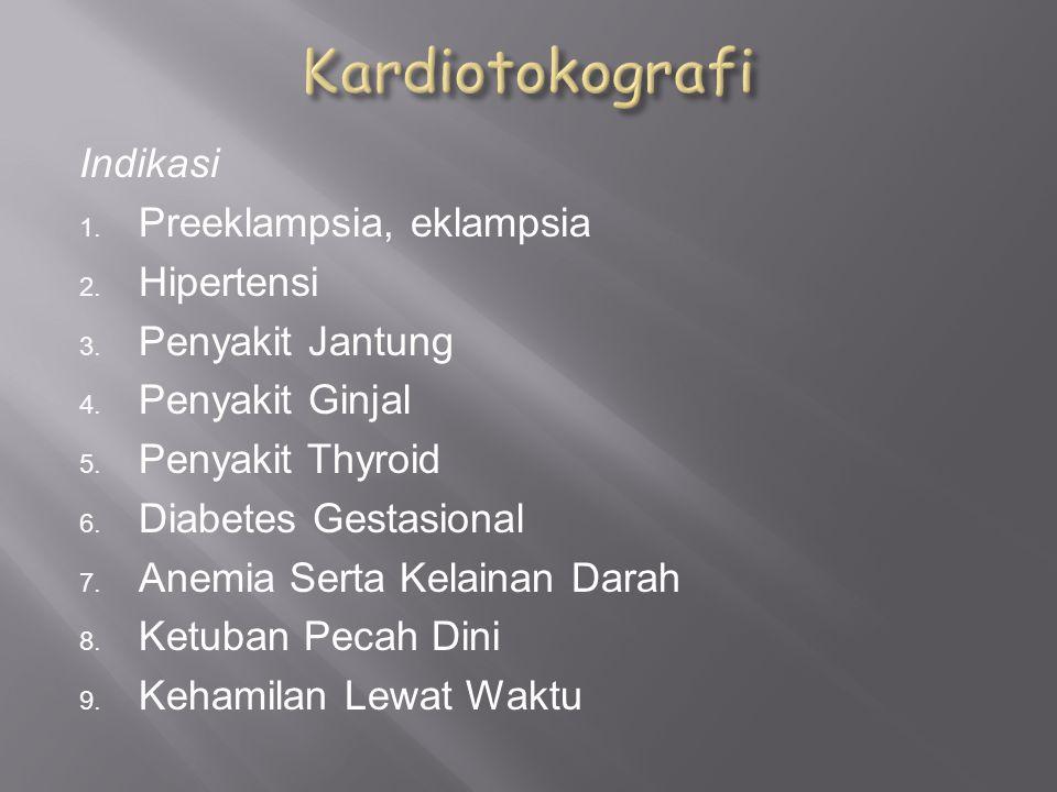 Kardiotokografi Indikasi Preeklampsia, eklampsia Hipertensi