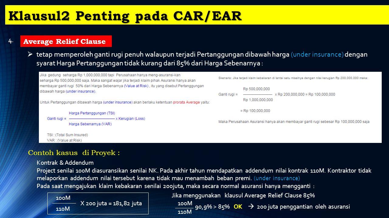 Klausul2 Penting pada CAR/EAR