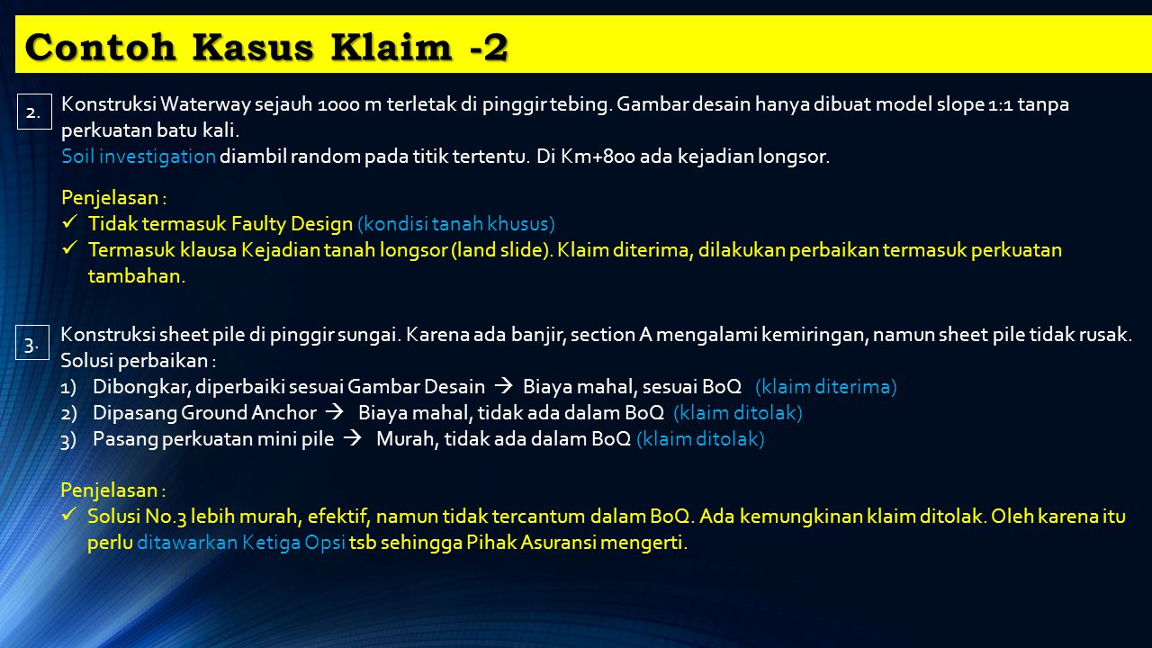 Contoh Kasus Klaim -2