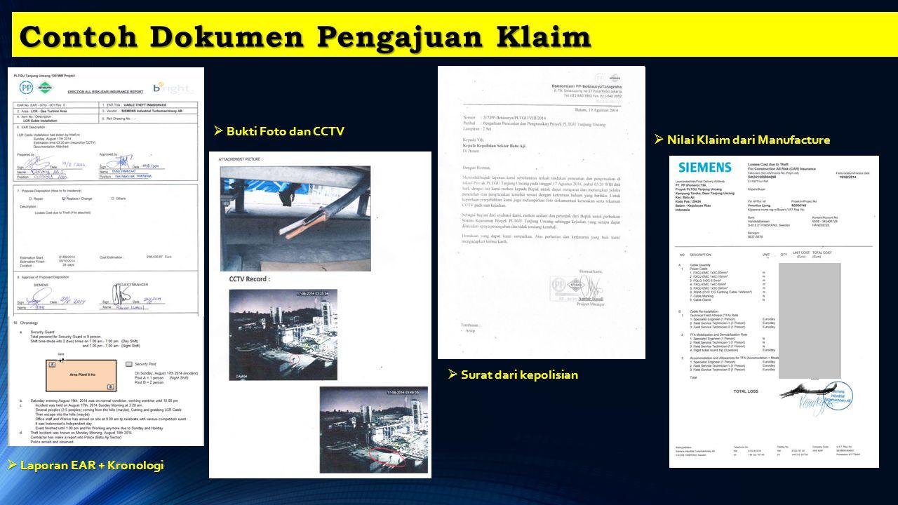 Contoh Dokumen Pengajuan Klaim