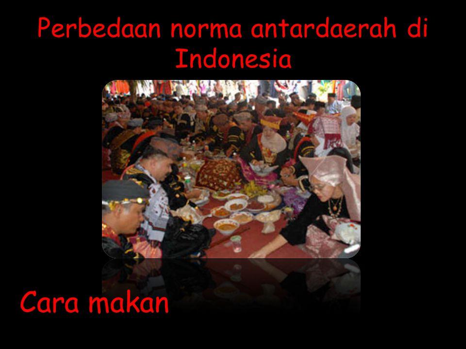 Perbedaan norma antardaerah di Indonesia