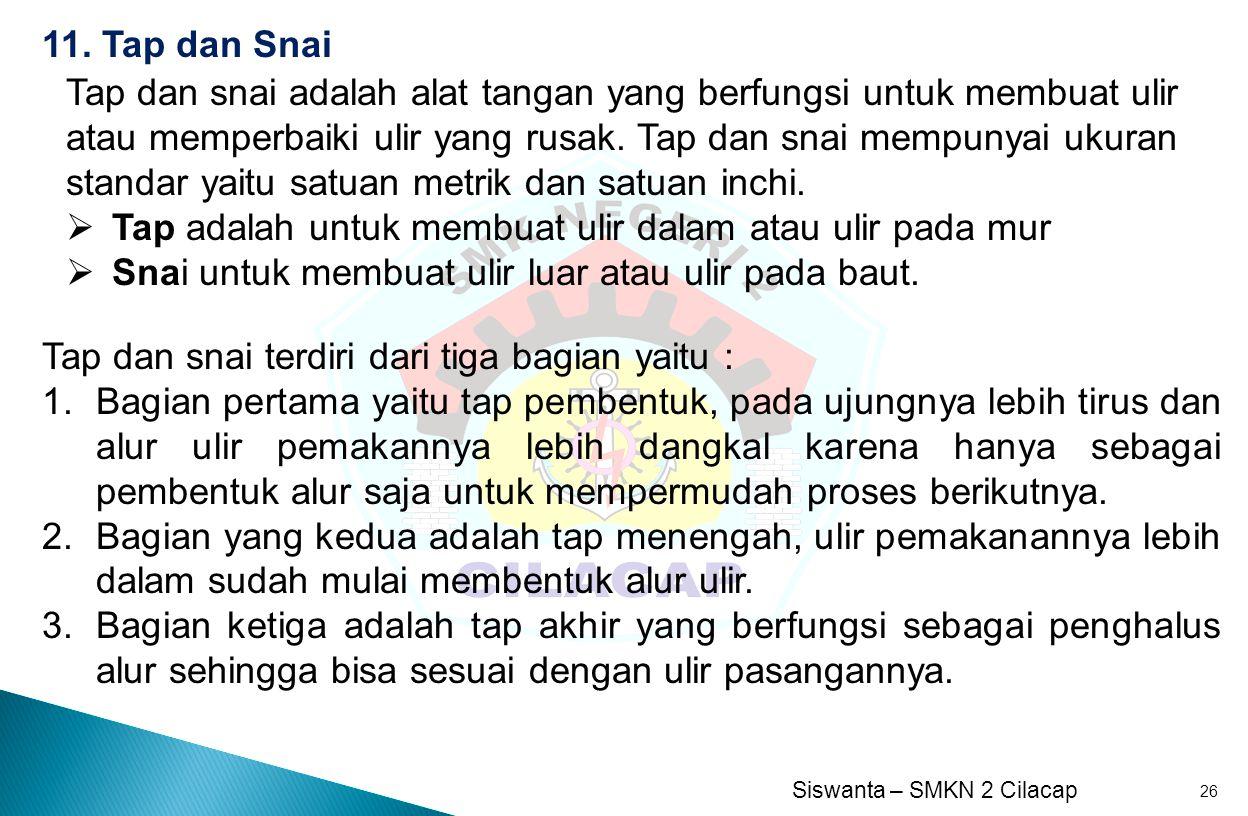 11. Tap dan Snai