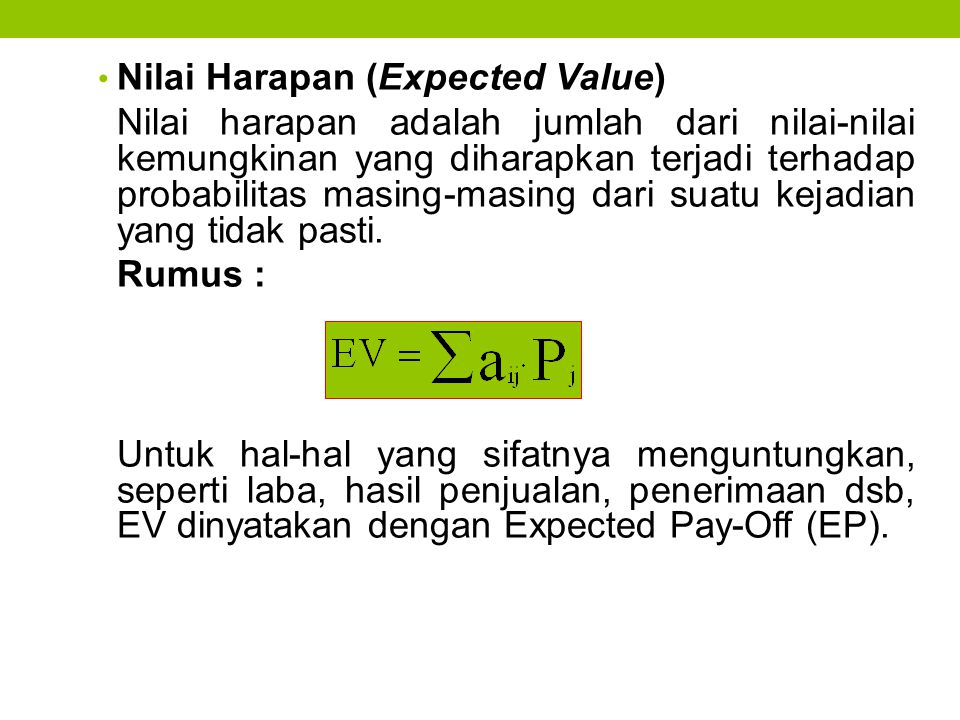 Nilai Harapan (Expected Value)