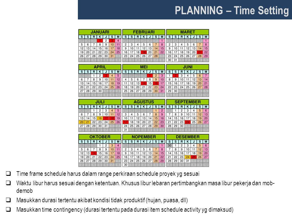 PLANNING – Time Setting