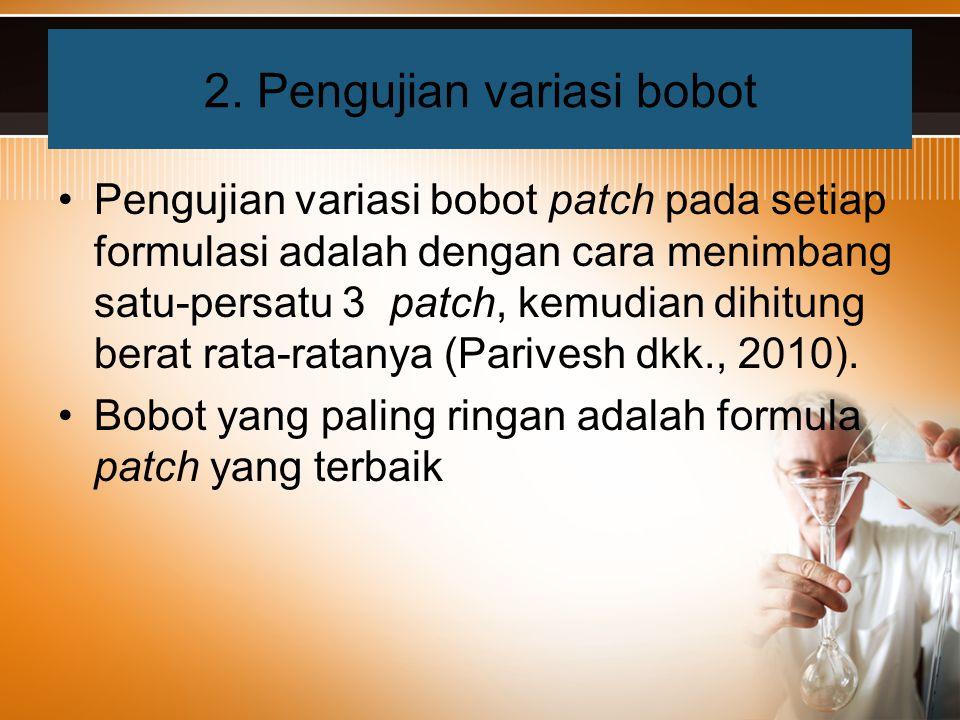 2. Pengujian variasi bobot