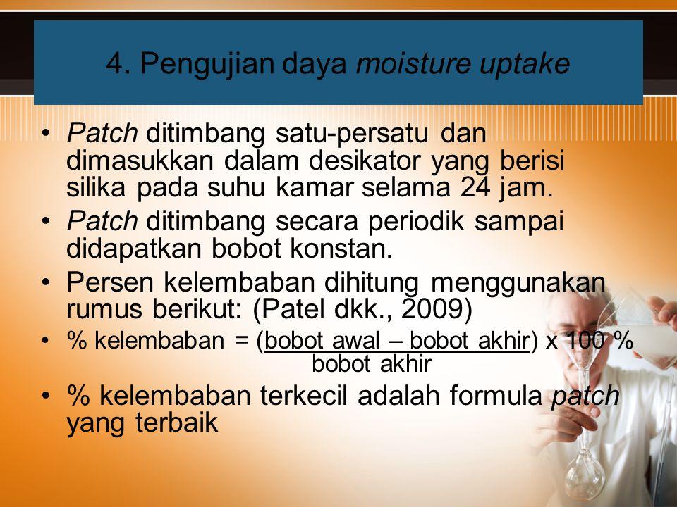 4. Pengujian daya moisture uptake