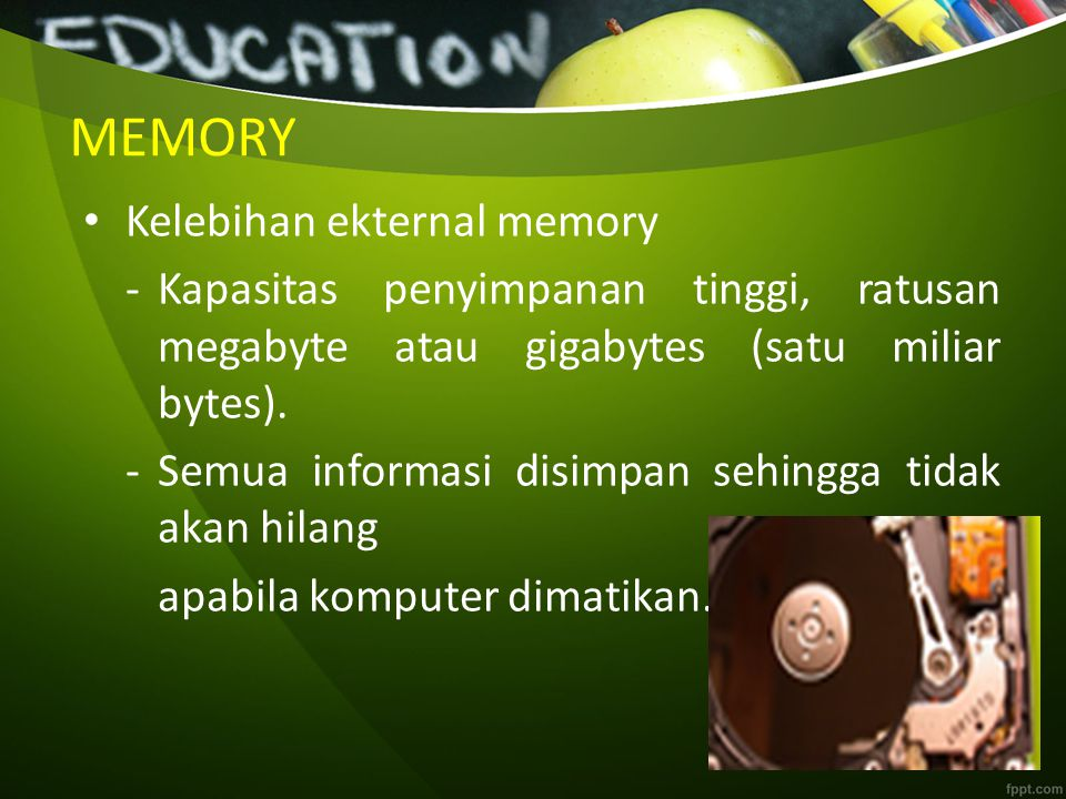 MEMORY Kelebihan ekternal memory