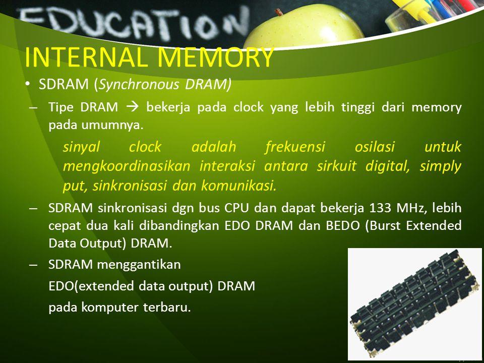 INTERNAL MEMORY SDRAM (Synchronous DRAM)