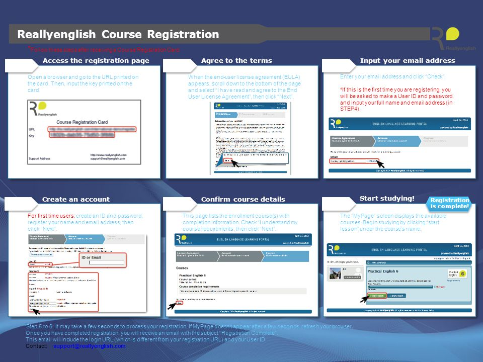 Reallyenglish Course Registration
