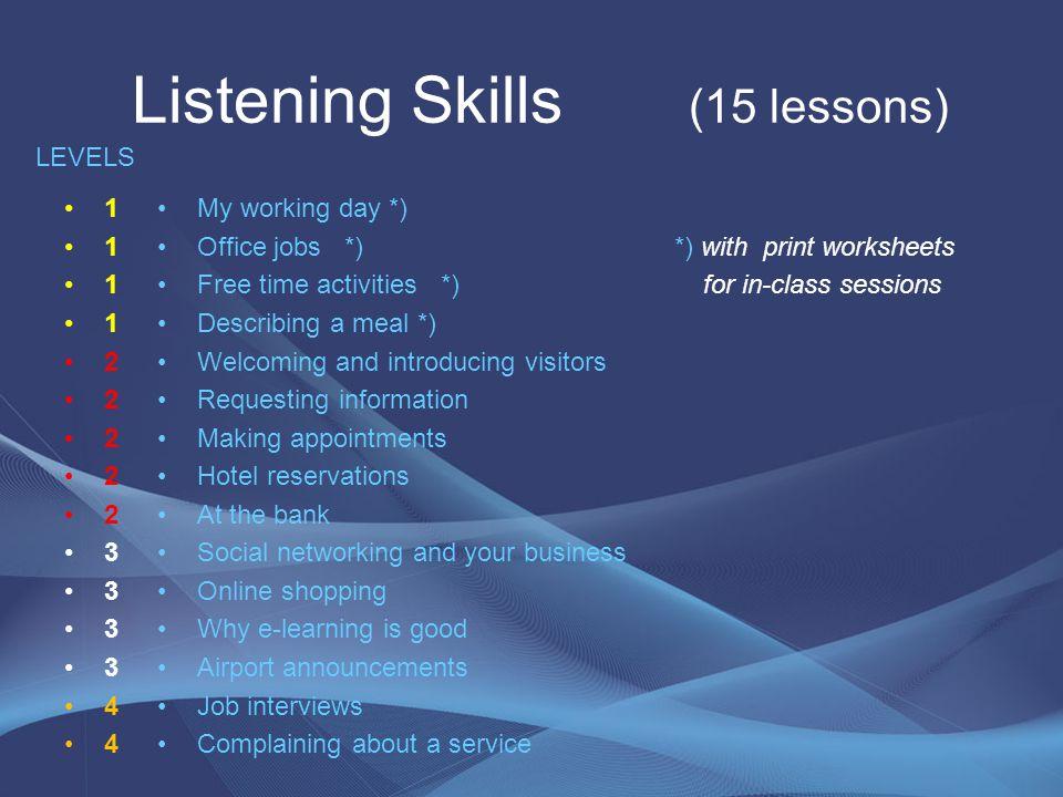 Listening Skills (15 lessons)