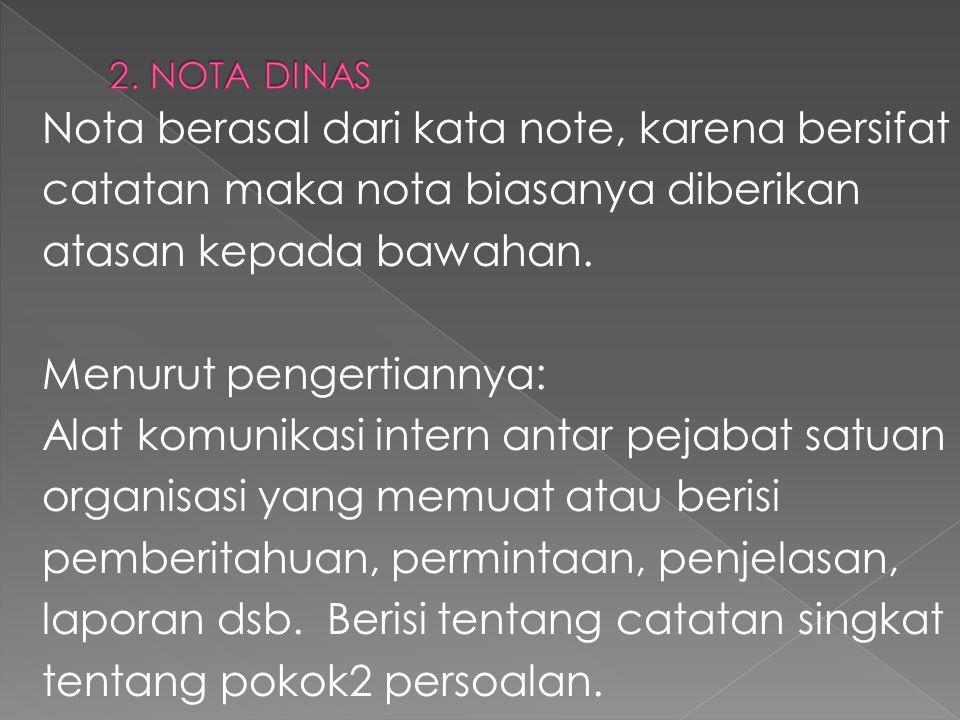 2. NOTA DINAS
