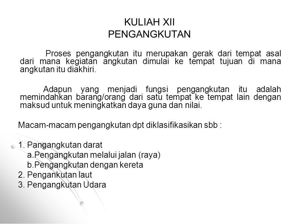 KULIAH XII PENGANGKUTAN
