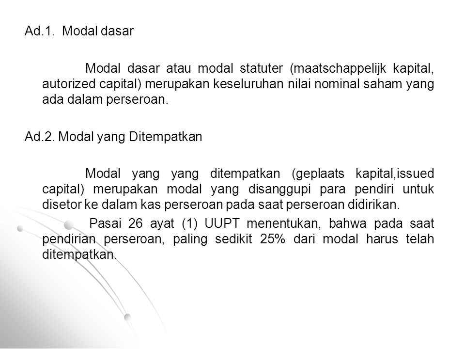 Ad.1. Modal dasar