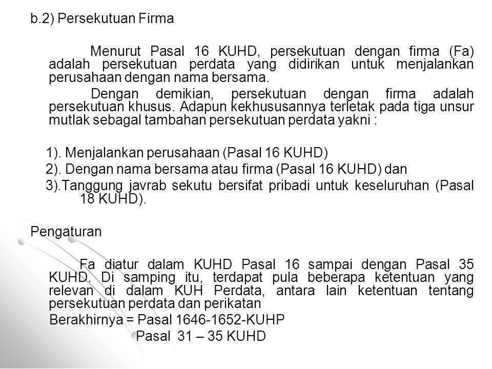 b.2) Persekutuan Firma