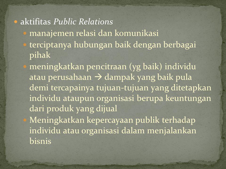 aktifitas Public Relations